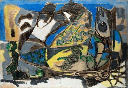 Renato Birolli, 'Rocce e Mare', 1952