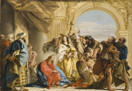 Giovanni Domenico Tiepolo, 'Christ and the Woman Taken in Adultery', 1752