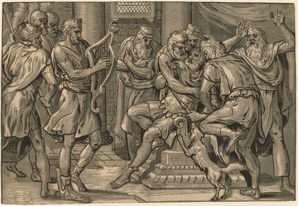 Frans Floris I, 'David Playing the Harp before Saul', 1555