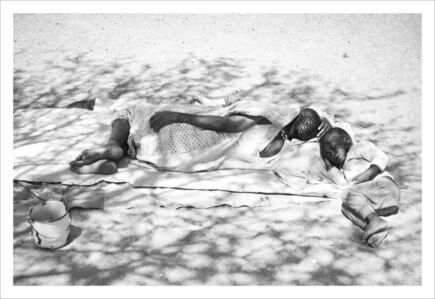 Margaret Courtney-Clarke, 'Dappled Shade !Uoa !Ga-/ham (Martha Gathone, according to her official identity document) (b. 1958) and her grandson take a nap under the shade of a tree. ', 2019