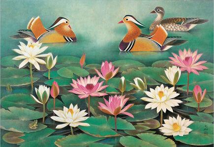 Zhizhu Lin 林之助, 'Colored Pond 彩塘', 1987
