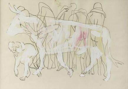 Nino Longobardi, 'Figures with bull'