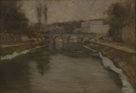Edward Willis Redfield, 'Charenton Bridge Over the Marne', 1900