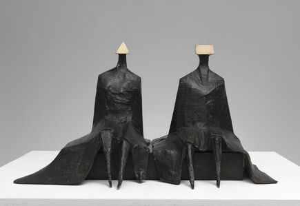 Lynn Chadwick, 'Sitting Figures in Robes I', 1980