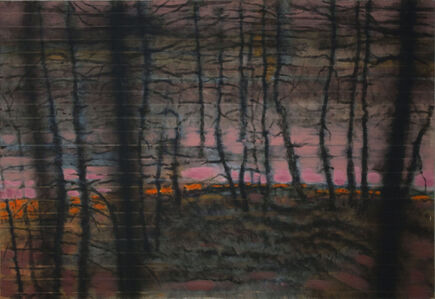 """Jonas Gasiūnas, '""""I Was Drawing The Forest With The Candle Flame. The Rain Started.""""', 2018"""