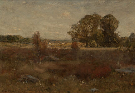 Dwight Tryon, 'Autumn Landscape', ca. 1887