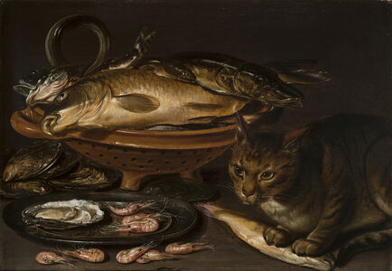 Clara Peeters, 'Still Life of Fish and Cat', after 1620