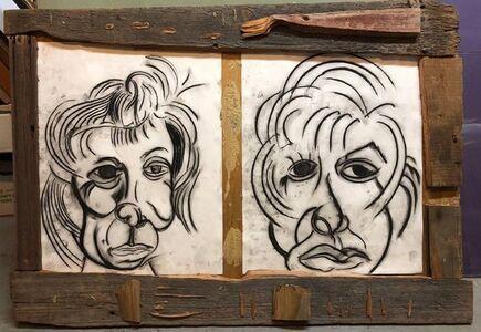 Alex Beard, 'Donna Librea, Mixed Media Wall Hanging Drawing', 1990-1999