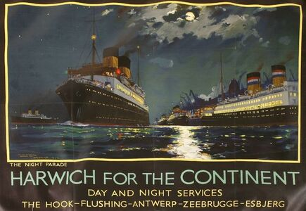 Frank Henry Mason, 'HARWICH FOR THE CONTINENT', 1934