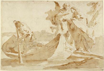 Giambattista Tiepolo, 'Flight into Egypt (recto), Various Studies (verso)', 1725-1735