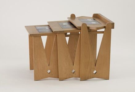 Guillerme et Chambron, 'Table Gigogne: Set of three nesting tables', ca. 1960