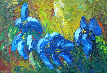 Marc Mylemans, 'Blue Irises', 2018