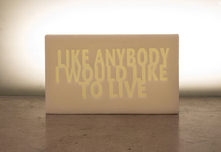 Amina Zoubir, 'Like anybody I would like to live', 2019