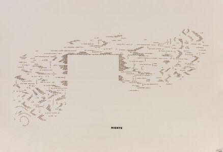 Vincenzo Accame, 'Niente', 1978