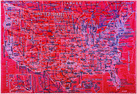Paula Scher, 'The United States (Red)', 2007