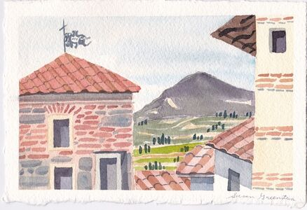 Susan Greenstein, 'Tile Roofs and Tuscan Valley', 2018