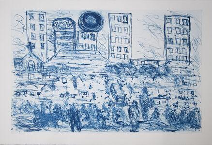 David Koloane, 'Blue Cityscape', 2008