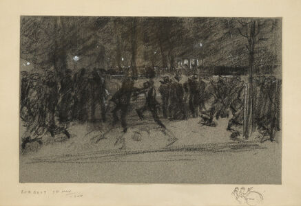 Everett Shinn, 'The Band, Washington Square', 1904