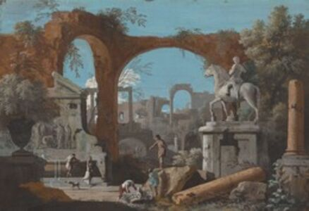 Marco Ricci, 'A Capriccio of Roman Ruins', 1720s