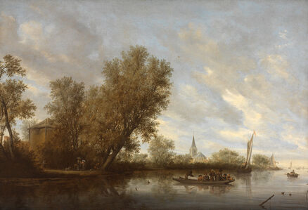 Salomon van Ruysdael, 'The Ferry Boat', 1645