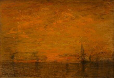 William Gedney Bunce, 'Orange Venice', ca. 1910