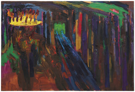 Rainer Fetting, 'Candleman in Subway', 1985