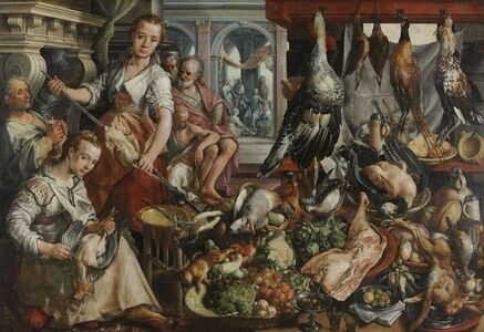 Joachim Beuckelaer, 'The Well-stocked Kitchen', 1566