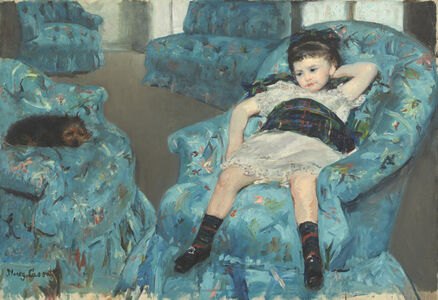 Mary Cassatt, 'Little Girl in a Blue Armchair', 1878