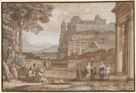 Claude Lorrain, 'Queen Esther Approaching the Palace of Ahasuerus', 1658
