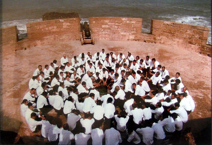 Shirin Neshat, 'Rapture series (Men Seated On Circle, ablution)', 1999