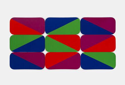 Leon Polk Smith, '2 diamonds 2x's 9 Rectangular Modulars', 1969