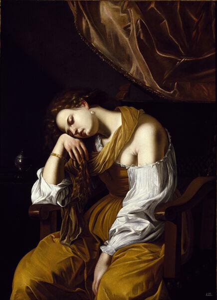 Artemisia Gentileschi, 'Mary Magdalene as Melancholy'