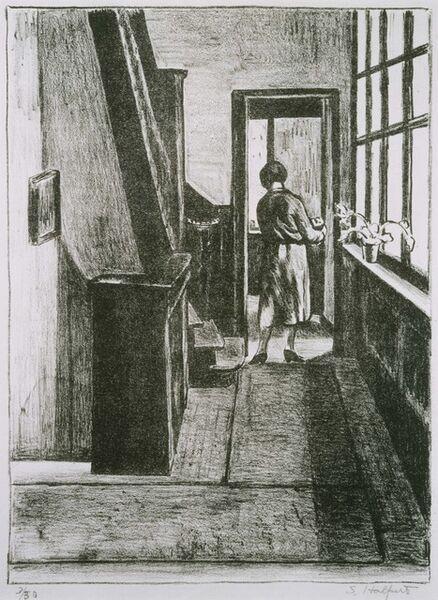 Samuel Halpert, 'The Hallway', 1921