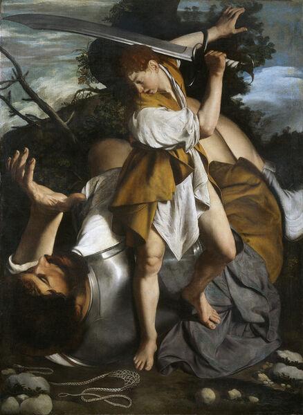 Orazio Gentileschi, 'David and Goliath', 1605-1608