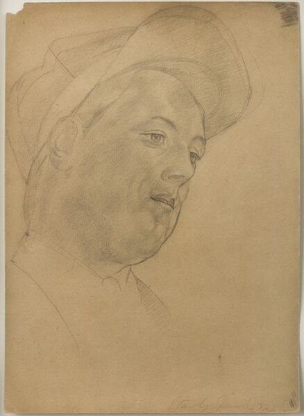 Stanley Spencer, 'Young Man in a Cap', 1923