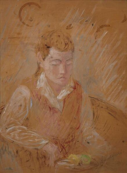 Pio Semeghini, 'Portrait of a girl', executed in 1942