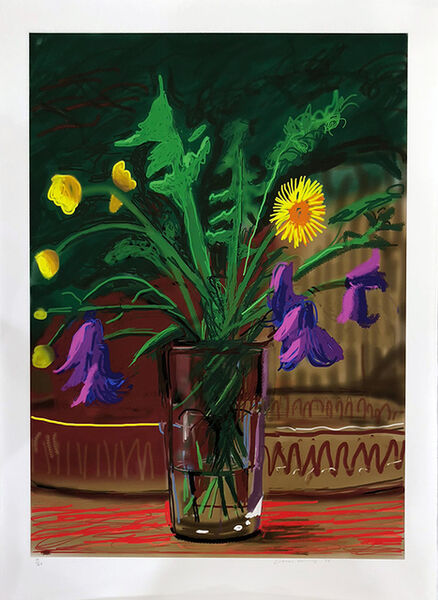 David Hockney, 'Dandelions', 2011