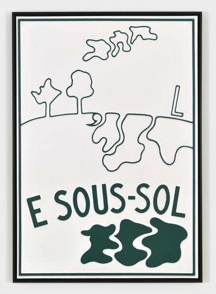 Marcel Broodthaers, 'E Sous-Sol', 1969