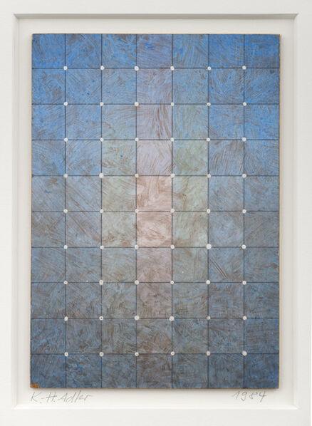 Karl Heinz Adler, 'Farbschichtung mit weißen Püntkchen', 1984