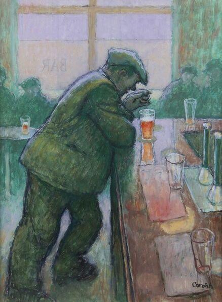 Norman Cornish, 'Man Leaning on Bar', ca. 1970
