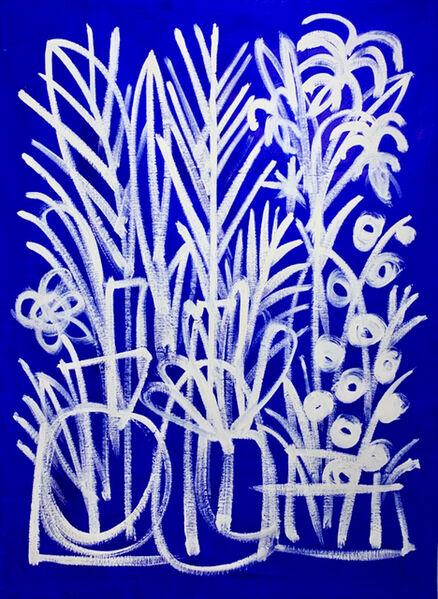 B.D. Graft, 'White on Blue', 2020