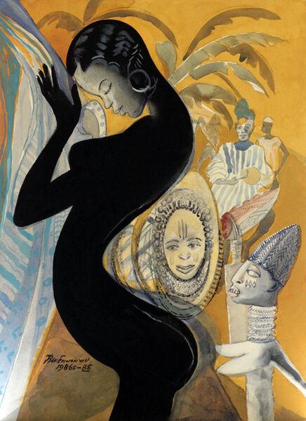 Ben Enwonwu MBE, 'Negritude (1985/86)', 1985