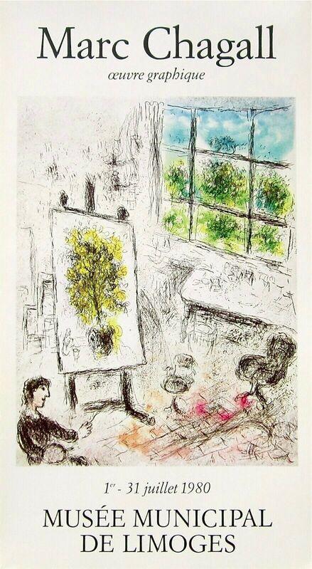 Marc Chagall, 'Musee Municipal De Limoges, 1980 Exhibition Poster', 1980, Ephemera or Merchandise, Lithograph on premium paper, Art Commerce