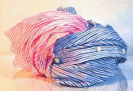 Ray Kleinlein, 'Pink and Blue Stripes', 2019