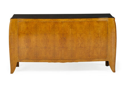 André Domin & Marcel Genevrière Dominique, 'Fine two-door cabinet with inlaid snowflake patterned top, France', 1930s