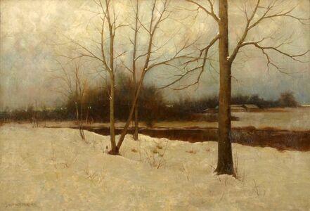Arthur Hoeber, 'Winter Stream', ca. 1895