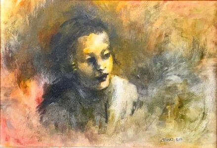 Dina Rosenzweig, 'Young Hasidic Boy, Oil Painting Israeli Judaica Jerusalem, Geulah Neighborhood', 21st Century
