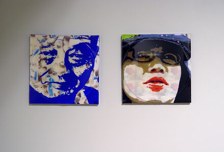 Lore Eckelberry, 'Kazu Blu (left); Kumiko (right) ', 2013