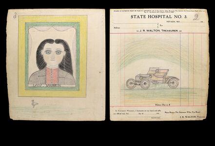 """James Edward Deeds Jr. [The Electric Pencil], 'Car/ """"LADY. VANBURON""""  [2/3]', 20th Century"""