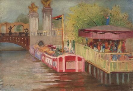 Nathan Spigel, 'Manège au pont Alexandre III', executed circa 1920